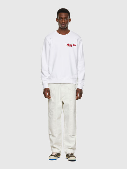 Diesel - S-GIRK-B3, Blanc - Pull Cotton - Image 4