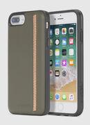 ZIP OLIVE LEATHER IPHONE 8 PLUS/7 PLUS/6s PLUS/6 PLUS CASE, Vert Olive - Coques