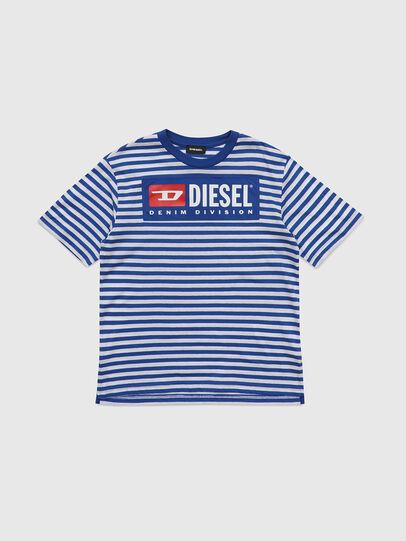 Diesel - TVIKTOR OVER, Bleu/Blanc - T-shirts et Hauts - Image 1