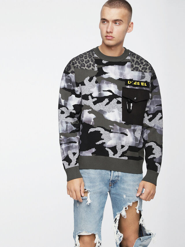 Diesel - K-CAMOU-E, Vert Militaire - Pull Maille - Image 1