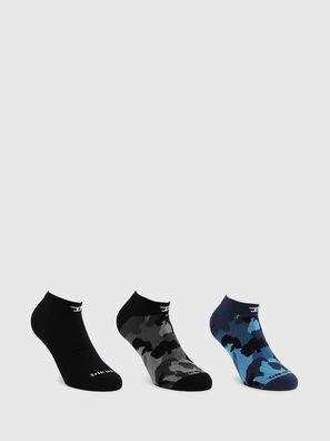 SKM-GOST-THREEPACK, Noir/Bleu - Chaussettes