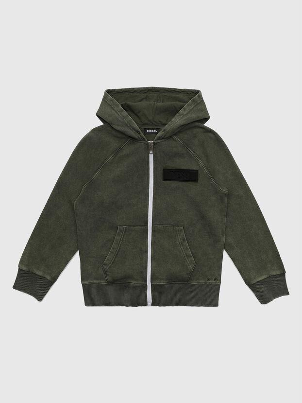 SGIMHOODZIP, Vert Militaire - Pull Cotton