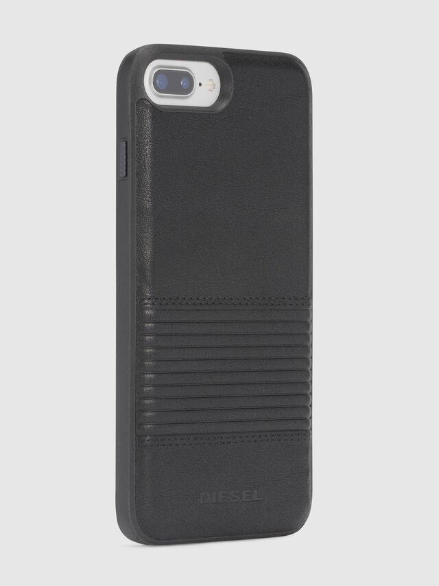 Diesel - BLACK LINED LEATHER IPHONE 8 PLUS/7 PLUS/6s PLUS/6 PLUS CASE, Noir - Coques - Image 5