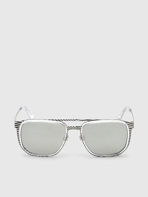 DL0294, Blanc/Noir - Lunettes de soleil