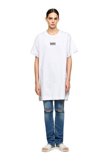 Robe T-shirt avec petit logo imprimé
