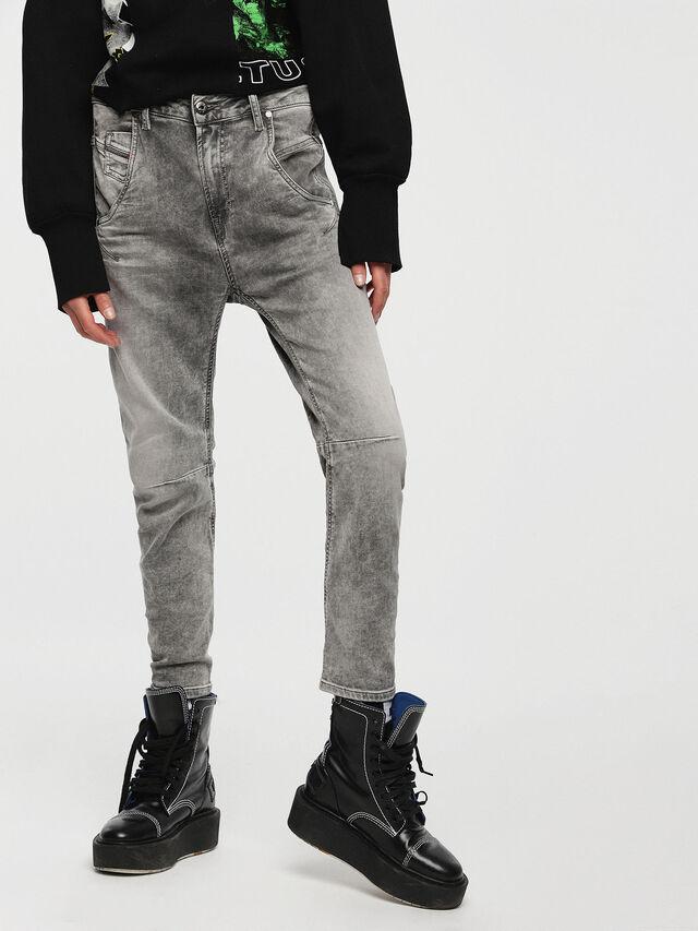 Diesel - Fayza JoggJeans 0855B, Gris Clair - Jeans - Image 1
