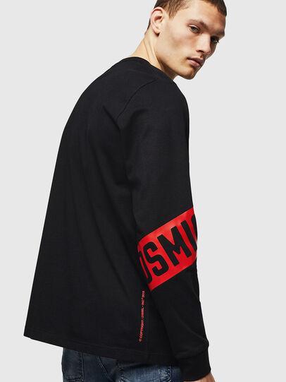 Diesel - T-JUST-LS-STAR, Noir - T-Shirts - Image 2