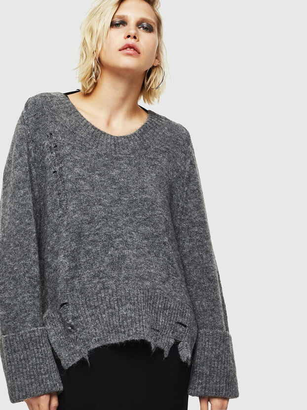 M-MARIKAX, Gris - Pull Maille