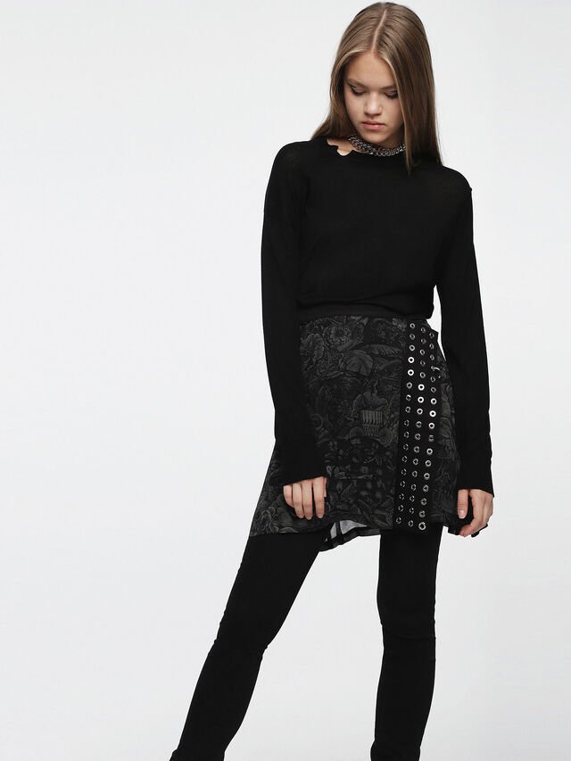 Diesel - M-AGG, Noir - Pull Maille - Image 1