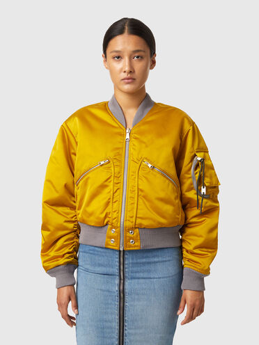 Bomber cropped réversible