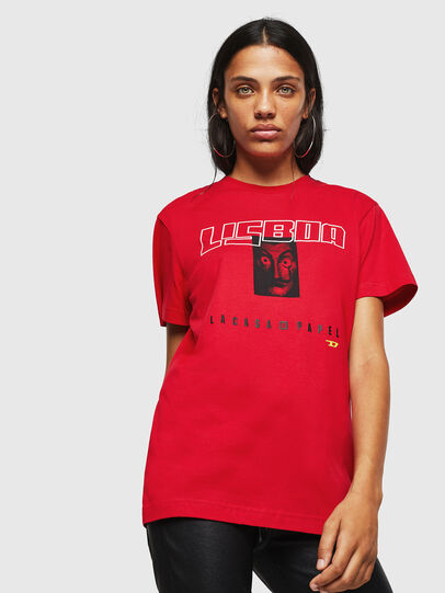 Diesel - LCP-T-DIEGO-LISBOA, Rouge - T-Shirts - Image 2