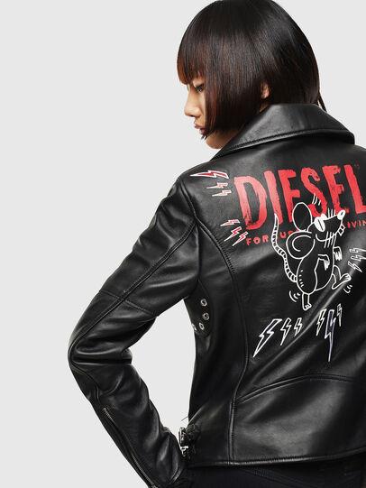 Diesel - CL-L-LYFA-BIGM, Noir - Vestes de cuir - Image 2
