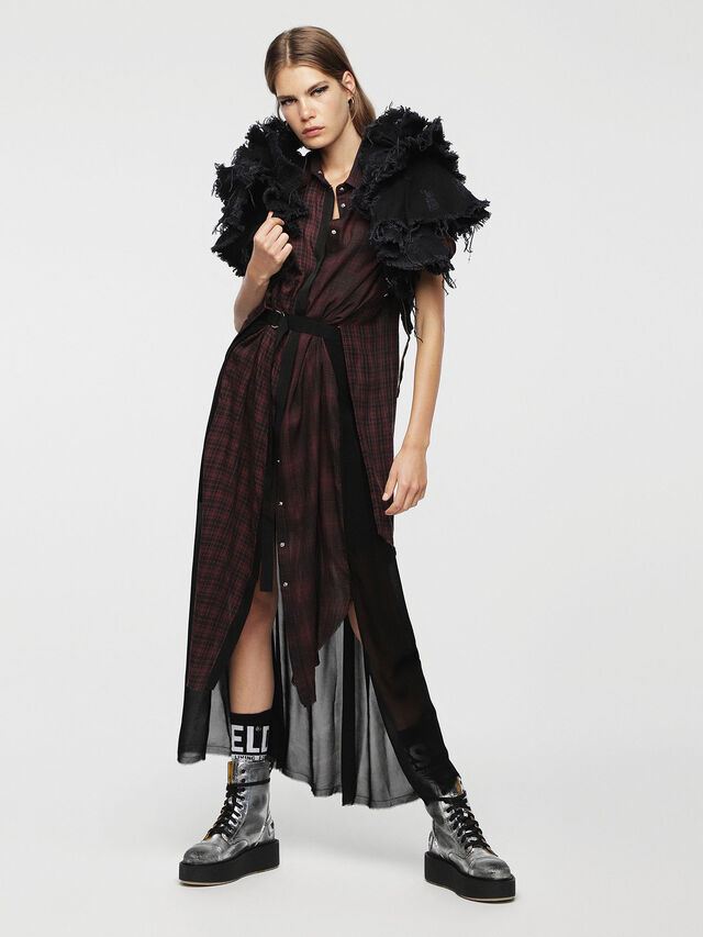 Diesel - D-BAGGY, Rouge/Noir - Robes - Image 6