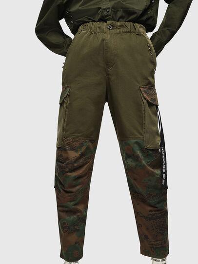 Diesel - P-THENA-A, Vert Camouflage - Pantalons - Image 1