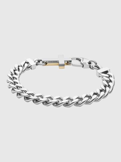 Diesel - DX1251, Gris argenté - Bracelets - Image 1