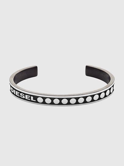 Diesel - DX1167, Gris argenté/Noir - Bracelets - Image 1