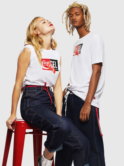 Diesel - CC-T-JUST-COLA, Blanc - T-Shirts - Image 6
