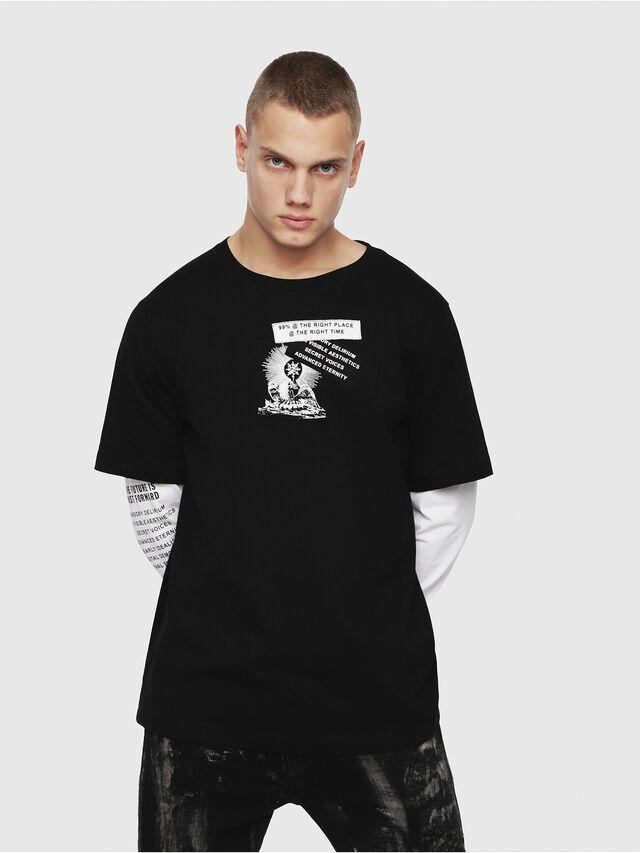 Diesel - T-SHOOT-YA, Noir - T-Shirts - Image 1