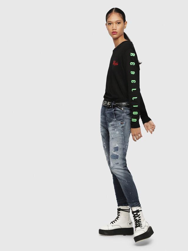 Diesel - Fayza JoggJeans 069CC, Bleu Foncé - Jeans - Image 4