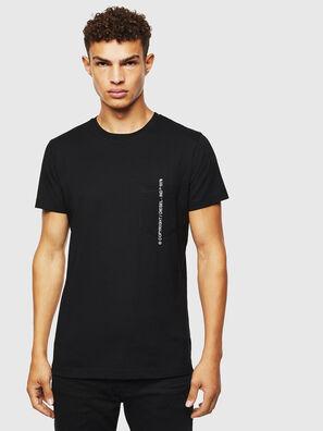T-RUBIN-POCKET-J1, Noir - T-Shirts