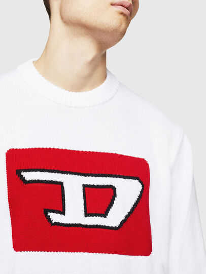 Diesel - K-LOGOX-B, Blanc - Pull Maille - Image 3