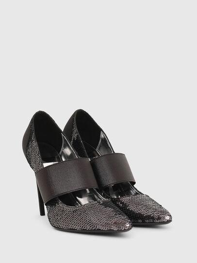 Diesel - D-SLANTY HHE, Noir/Gris argenté - Chaussures À Talon - Image 2