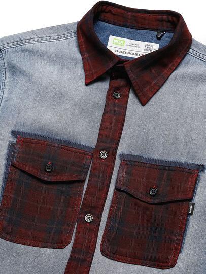 Diesel - D-DEEPCHECK-A, Bleu/Rouge - Chemises en Denim - Image 3