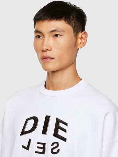 Diesel - S-MART-A90, Blanc - Pull Cotton - Image 3