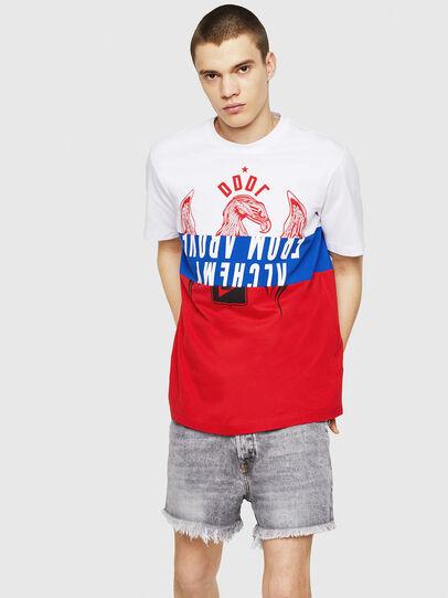 Diesel - T-JUST-A1, Blanc/Rouge/Bleu - T-Shirts - Image 4