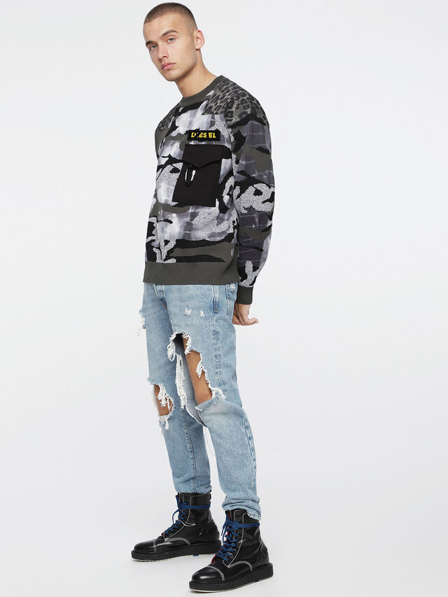 Diesel - K-CAMOU-E, Vert Militaire - Pull Maille - Image 4