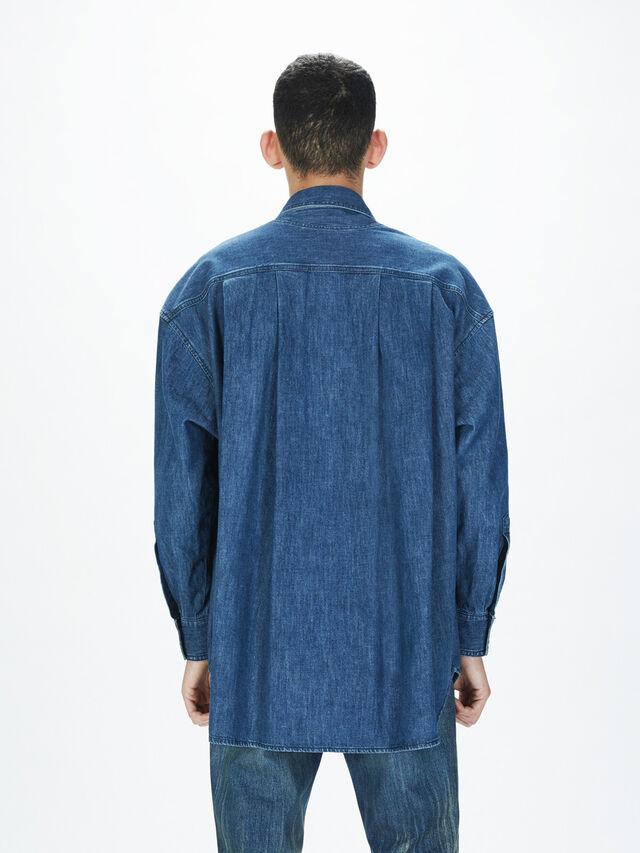 Diesel - SOTS01, Bleu Foncé - Chemises - Image 5