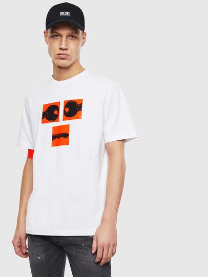 Diesel - T-JUST-T23, Blanc - T-Shirts - Image 1