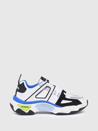 Sneakers multi-épaisseur en mélange de matières