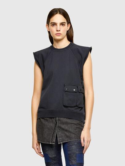 Diesel - F-ELPA, Noir - Pull Cotton - Image 1