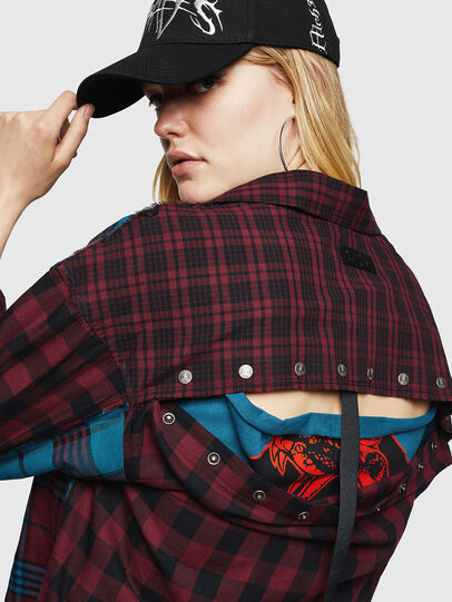 Diesel - C-OKSANA, Rouge/Bleu - Chemises - Image 5