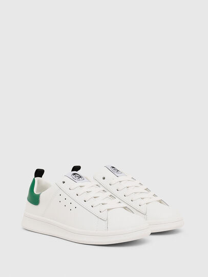 Diesel - SN LOW LACE 11 FULL, Blanc/Vert - Footwear - Image 2