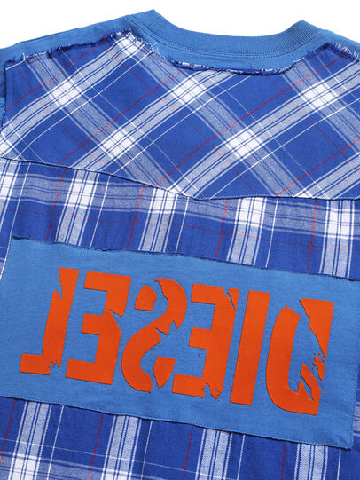 Diesel - D-WESTERNSPORT, Bleu Clair - T-Shirts - Image 5