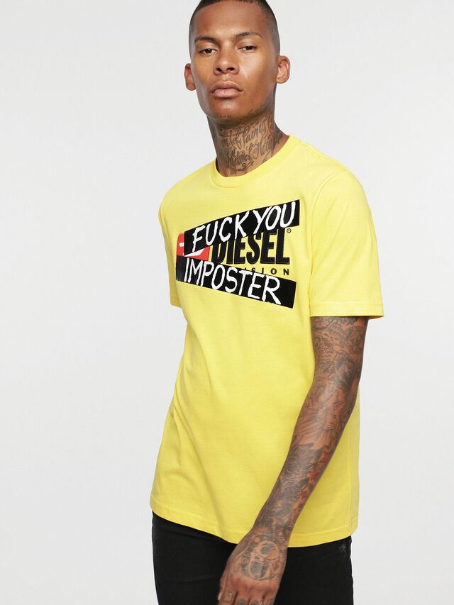 Diesel - HC-T-JUST-DIVISION-B, Jaune - T-Shirts - Image 3