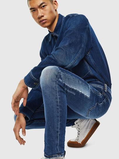 Diesel - Thommer 0097W, Bleu Foncé - Jeans - Image 3