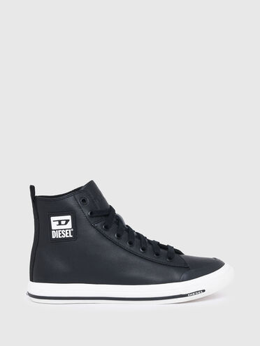 Sneakers montantes en cuir avec logo D