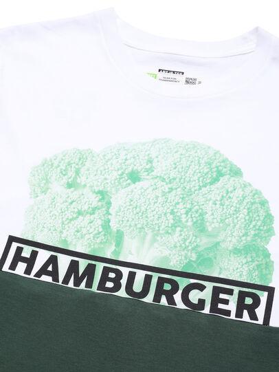 Diesel - D-SHIELD-GREEN, Blanc - T-Shirts - Image 4
