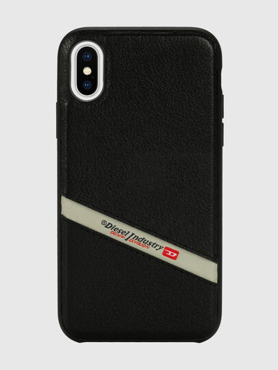Diesel - DIESEL LEATHER CO-MOLD CASE FOR IPHONE XS & IPHONE X, Noir - Coques - Image 2
