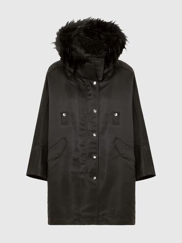 Manteau effet cape avec doublure amovible