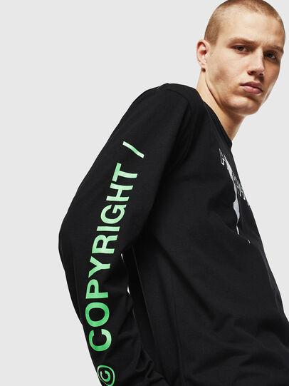 Diesel - T-JUST-LS-VINT, Noir/Blanc - T-Shirts - Image 4
