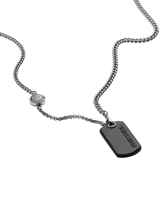 Diesel - NECKLACE DX1012, Gris argenté - Colliers - Image 2