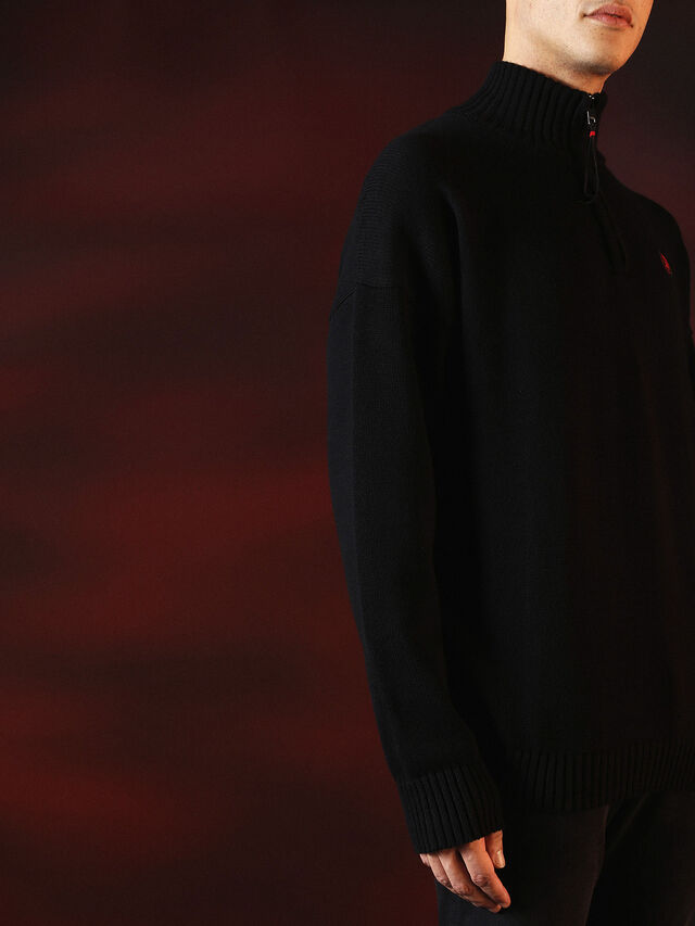 Diesel - DVL-KNIT-SPECIAL COLLECTION, Noir - Pull Maille - Image 7