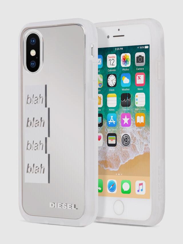 BLAH BLAH BLAH IPHONE X CASE, Blanc/Argent
