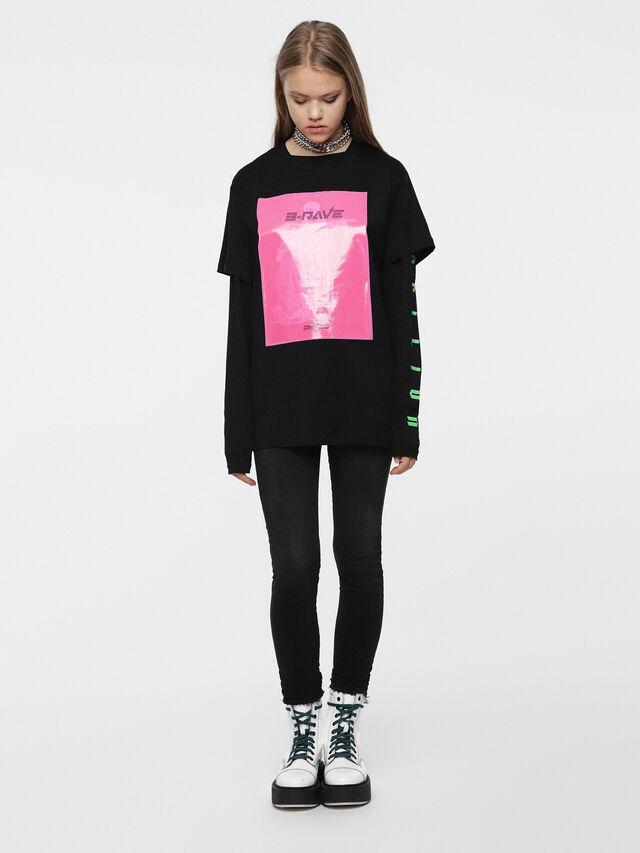Diesel - T-DARIA-C, Noir/Rose - T-Shirts - Image 4
