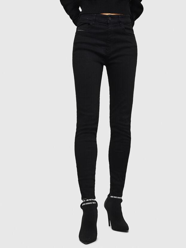 Slandy High 069EF, Noir/Gris foncé - Jeans