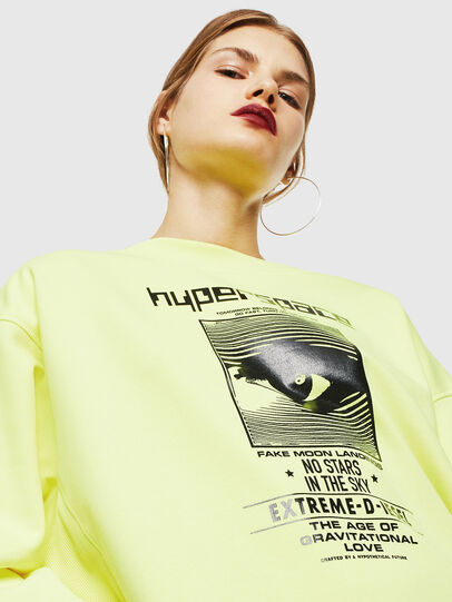 Diesel - F-AKUA, Jaune Fluo - Pull Cotton - Image 3